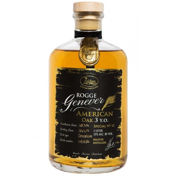 Zuidam - Rogge Genever, 3 Y American Oak (1 ℓ)