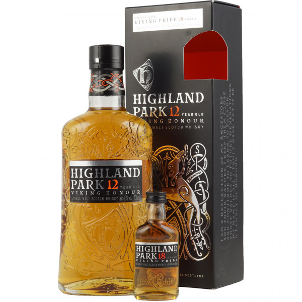 Highland Park, 12 Y Giftpack with mini 18 Y