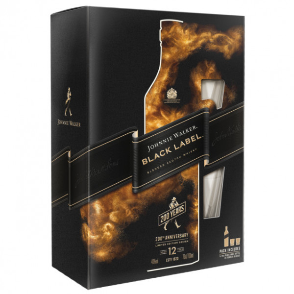 Johnnie Walker, 12 Y - Black Label, 200 Anniversary Gift Pack