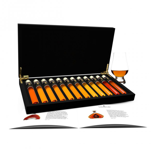 Cognac proeverij 12 Tubes in Houten Kist