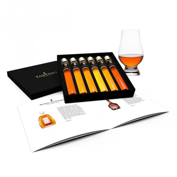 Cognac Proeverij 6 Tubes in Geschenkdoos