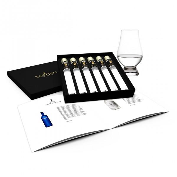 Vodka proeverij 6 tubes in Luxe Doos