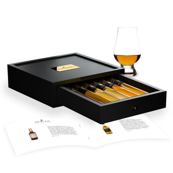 Whisky Proeverij 6 Premium Whisky's in Houten Kist