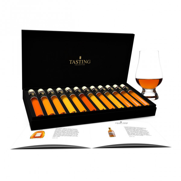Cognac dégustation 12 Tubes en coffret cadeau
