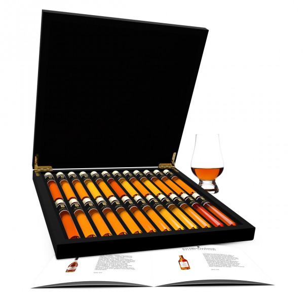 Cognac dégustation 24 Tubes en Coffret Bois