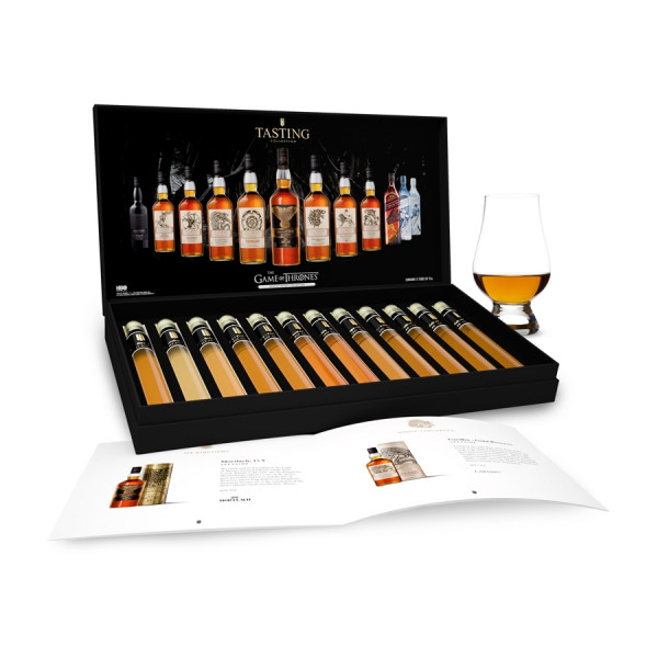 Game Of Thrones Complete Whisky Tasting Collection 12 tubes in Gift Box