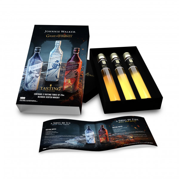Game Of Thrones Johnnie Walker Whisky Tasting Collection