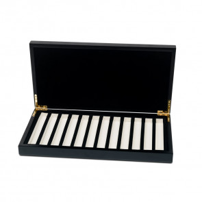Empty Luxury Wooden Box for 12 Tubes
