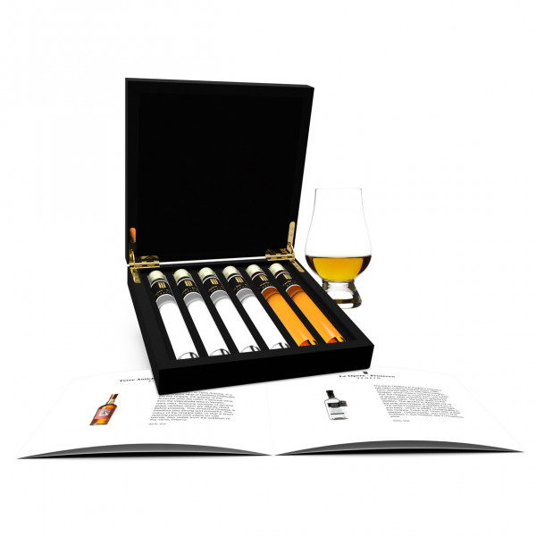 Grappa Probe 6 Tubes in Luxusbox aus Holz