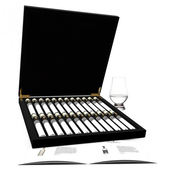 Vodka Probe 24 Tubes in Luxusbox aus Holz