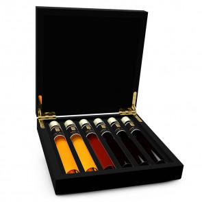 Likör Probe 6 Tubes in Luxusbox aus Holz