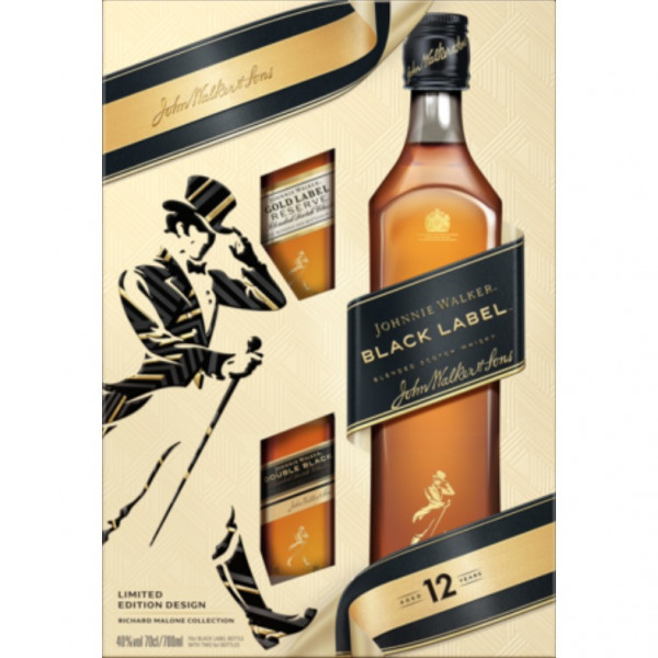 Johnnie Walker - Black Label, 12 Y with two minis (80CL)