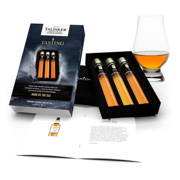 Talisker Tasting Collection 3 tubes in Gift Box