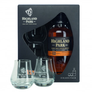 Highland Park, 12 Y met 2 glazen (70CL)