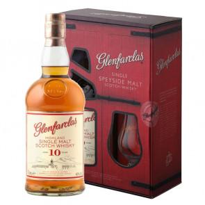 Glenfarclas, 10 Y met 2 glazen (70CL)