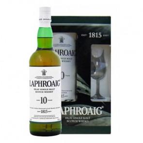 Laphroaig, 10 Y met glas (70CL)