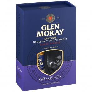 Glen Moray - Port Cask Finish met 2 glazen (70CL)