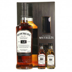 Bowmore, 12  Y Gift set met 2 mini (80CL)