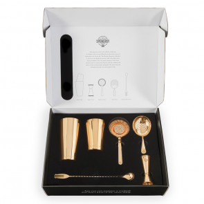 Cocktail Tools Boxed Set Gold set (1LTR)