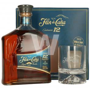 Flor de Cana, 12 Y Giftbox met Glas (70CL)