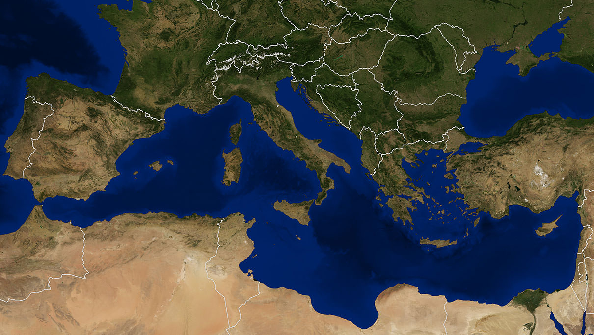 Olive oil around the Mediterranean Sea