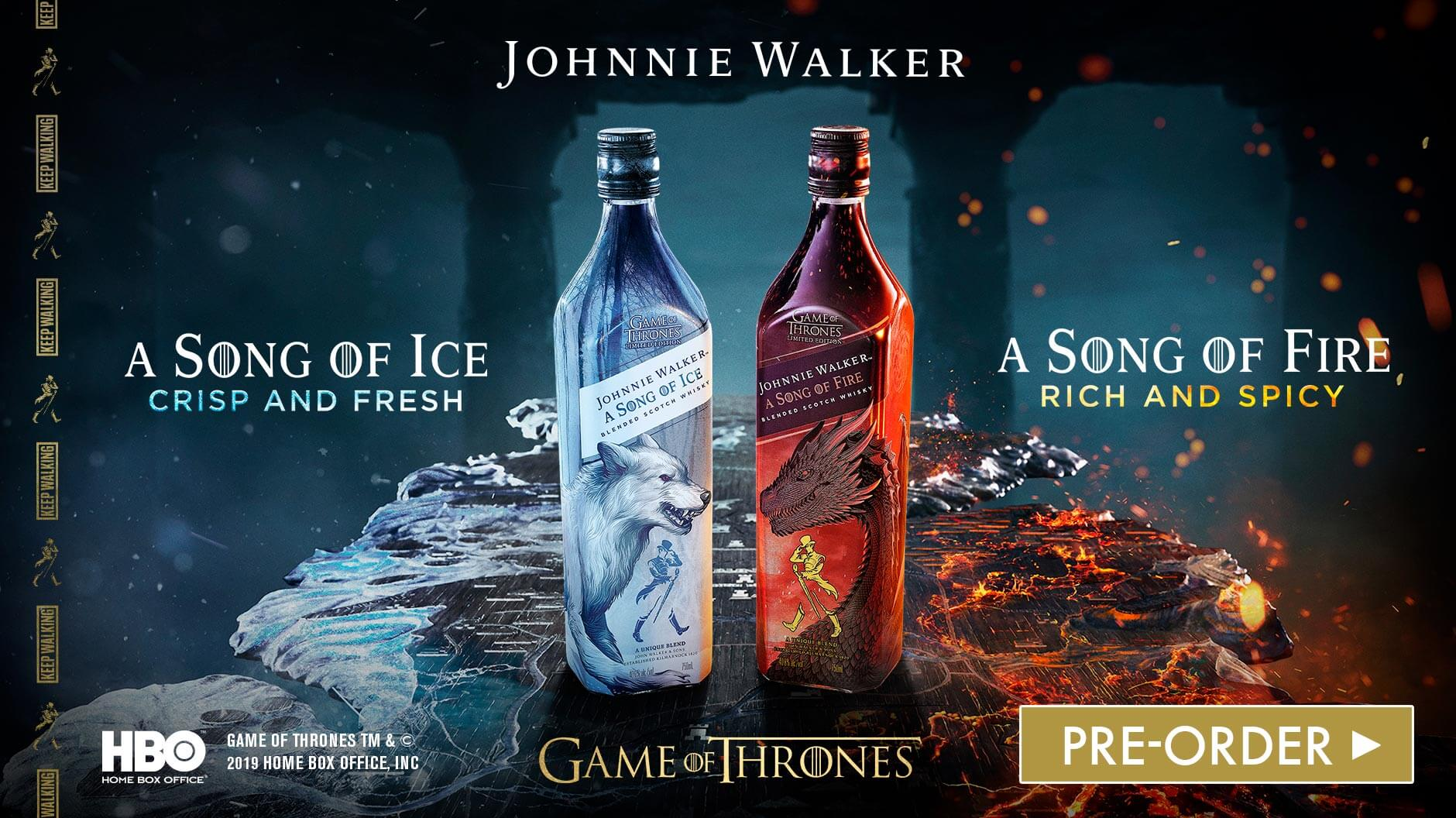 Johnnie Walker A Song Of Ice & A Song of Fire Whisky Game Of Thrones
